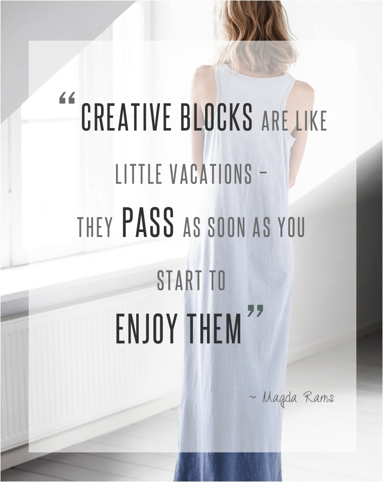 how to overcome creative block