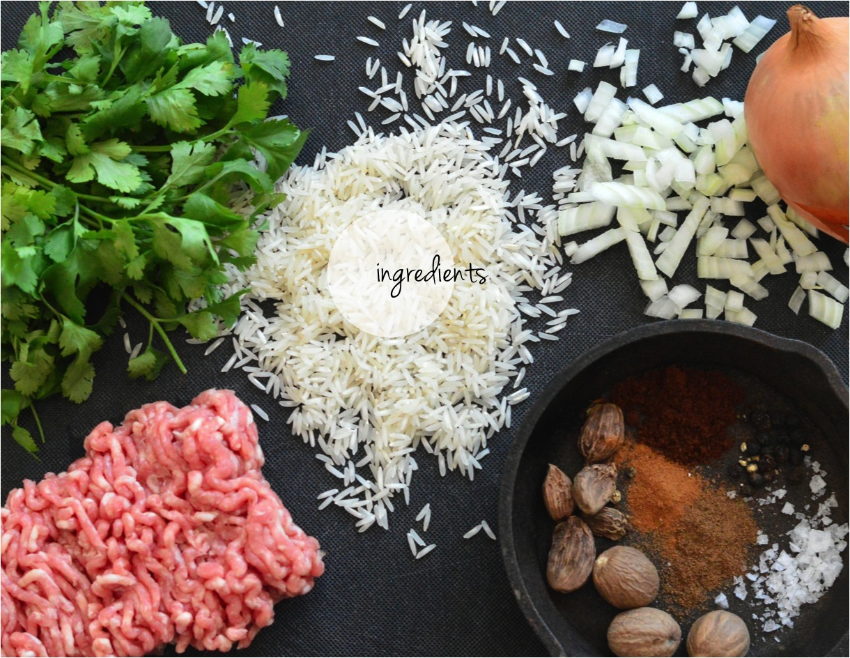 lebanese rice with minced meat