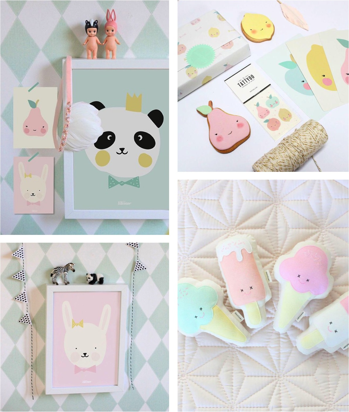 pastel decorations