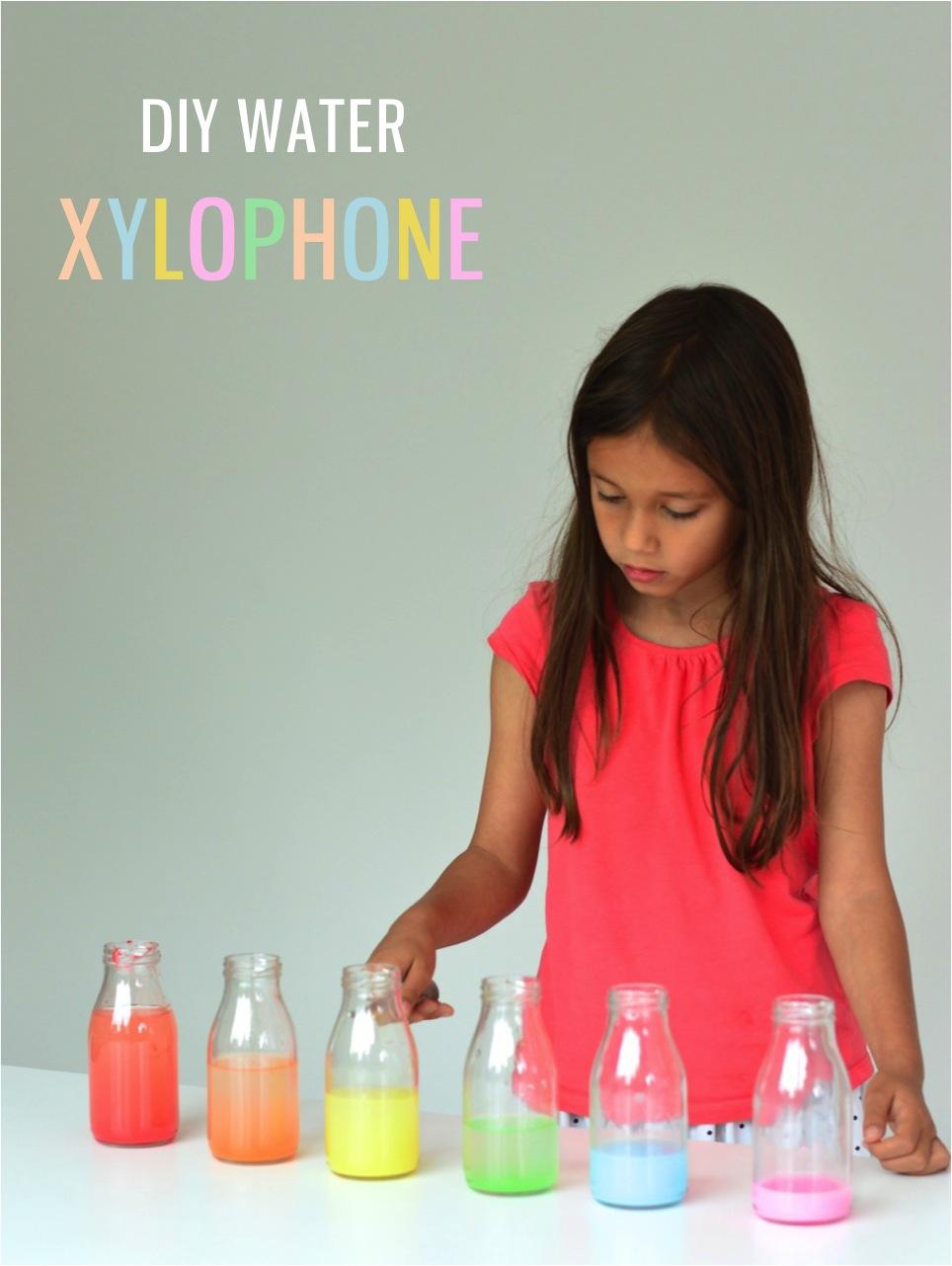 DIY water xylophone