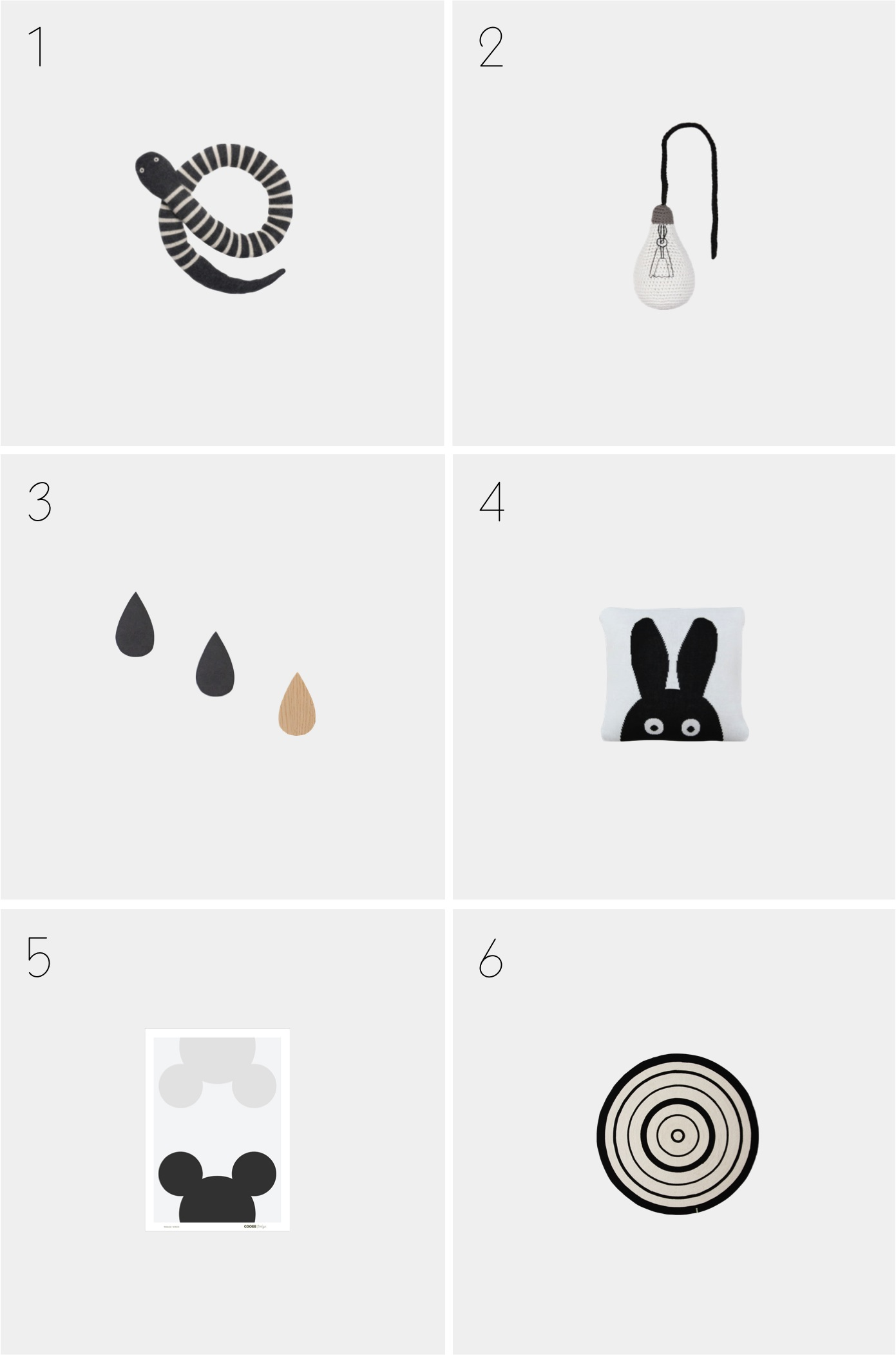 black and white decor for kids rooms