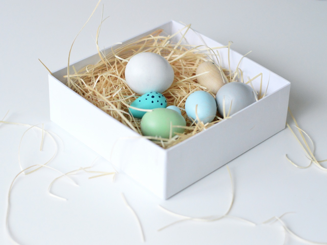 handmade wooden toy eggs