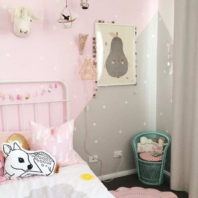 light pink girls bedroom decor