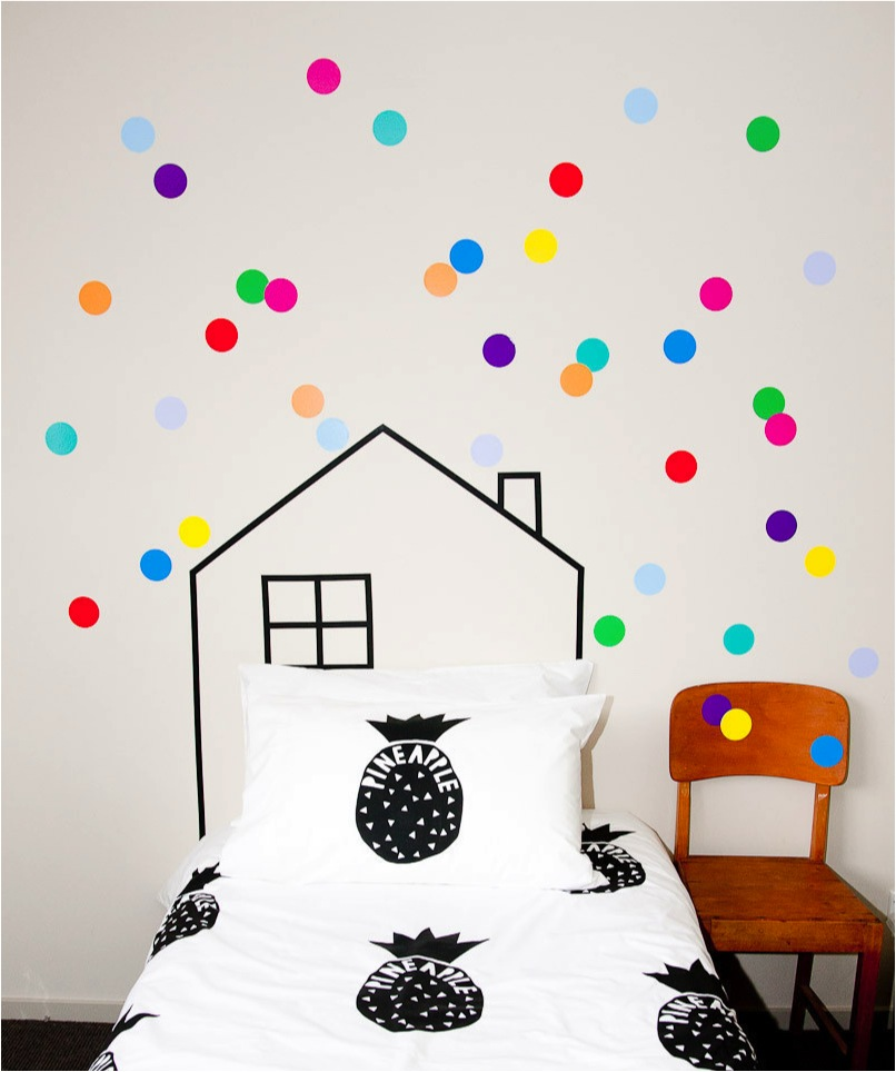 polka dot wall decals for kids room