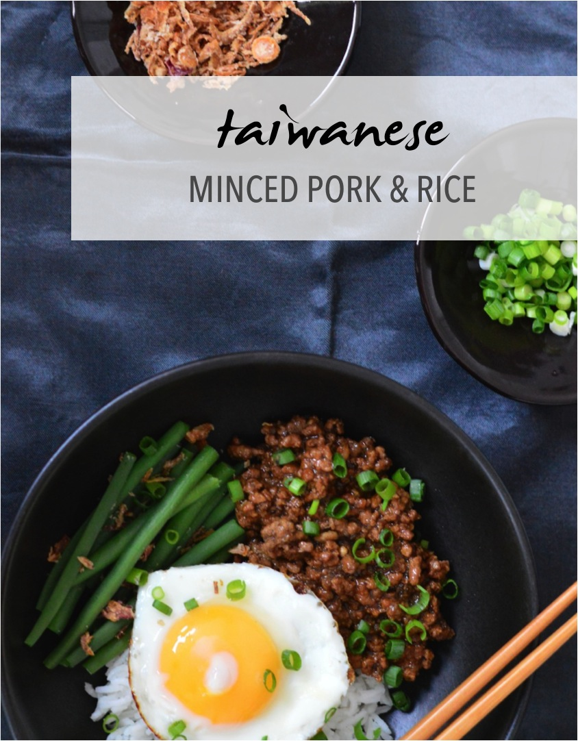 Taiwanese minced pork and rice recipe
