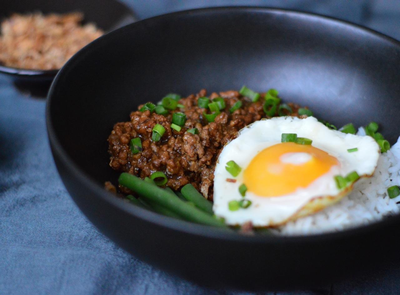 Taiwanese minced pork rice recipe