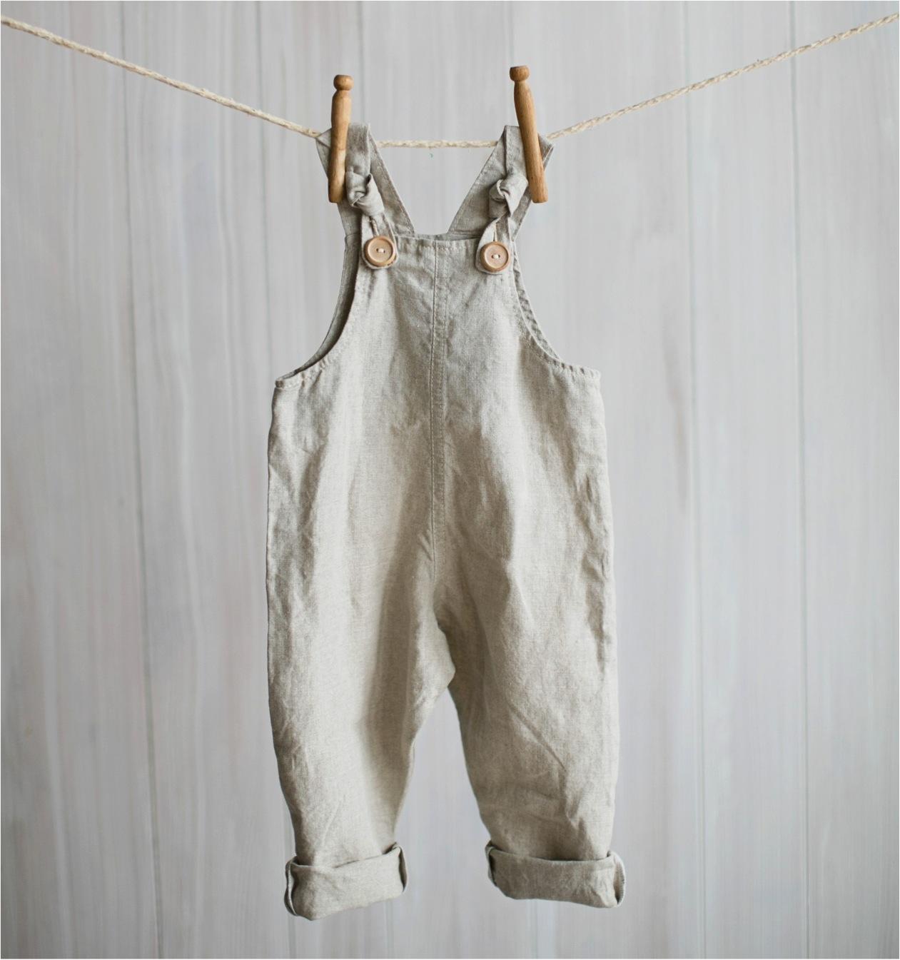 linen baby overalls