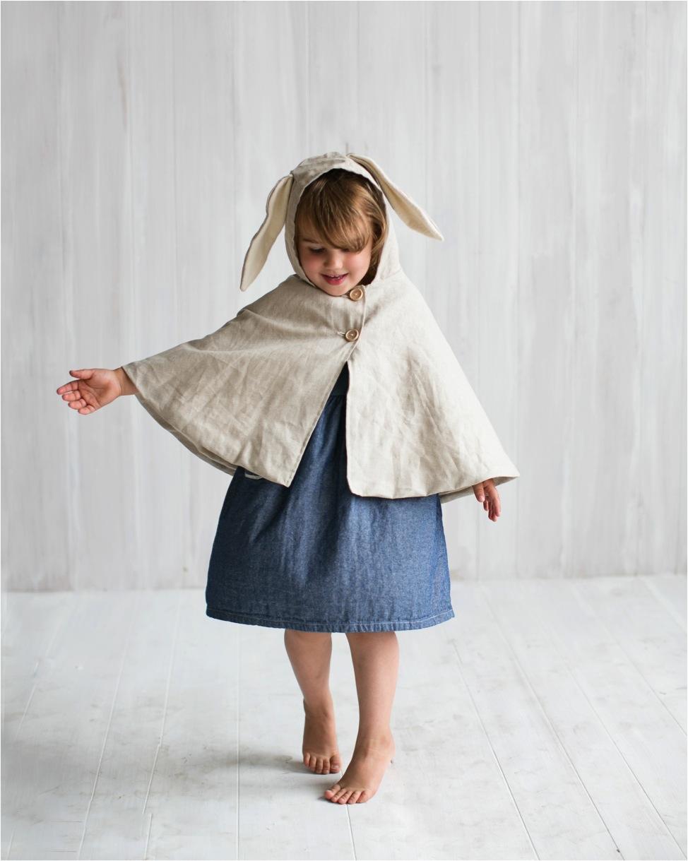 linen bunny cape coat