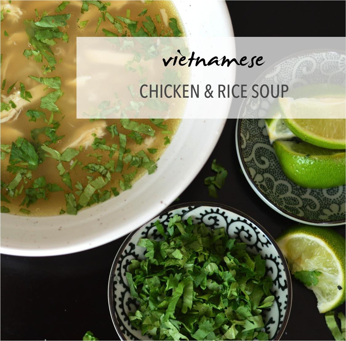 vietnamese chicken ad rice soup