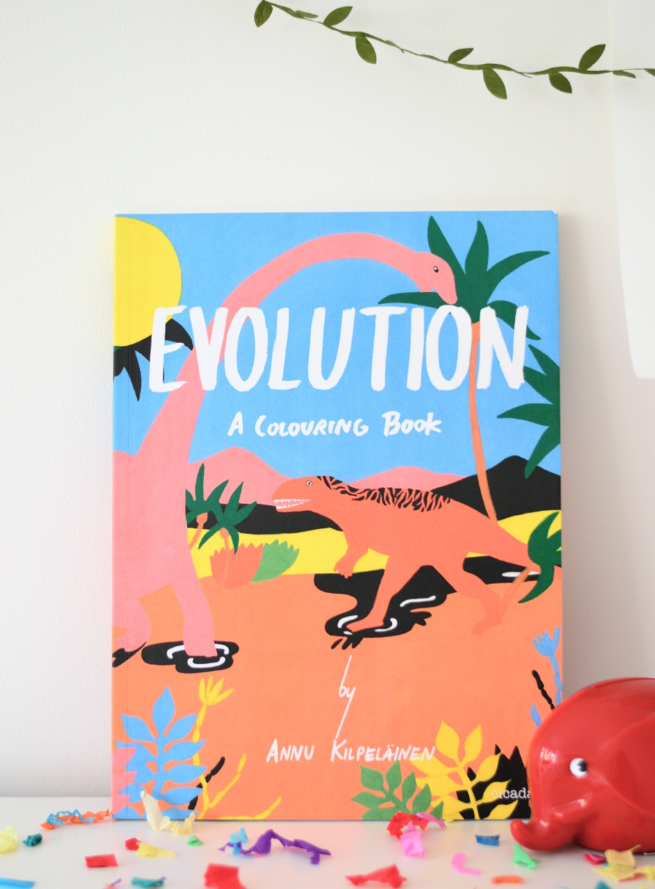 Evolution a colouring book for kids
