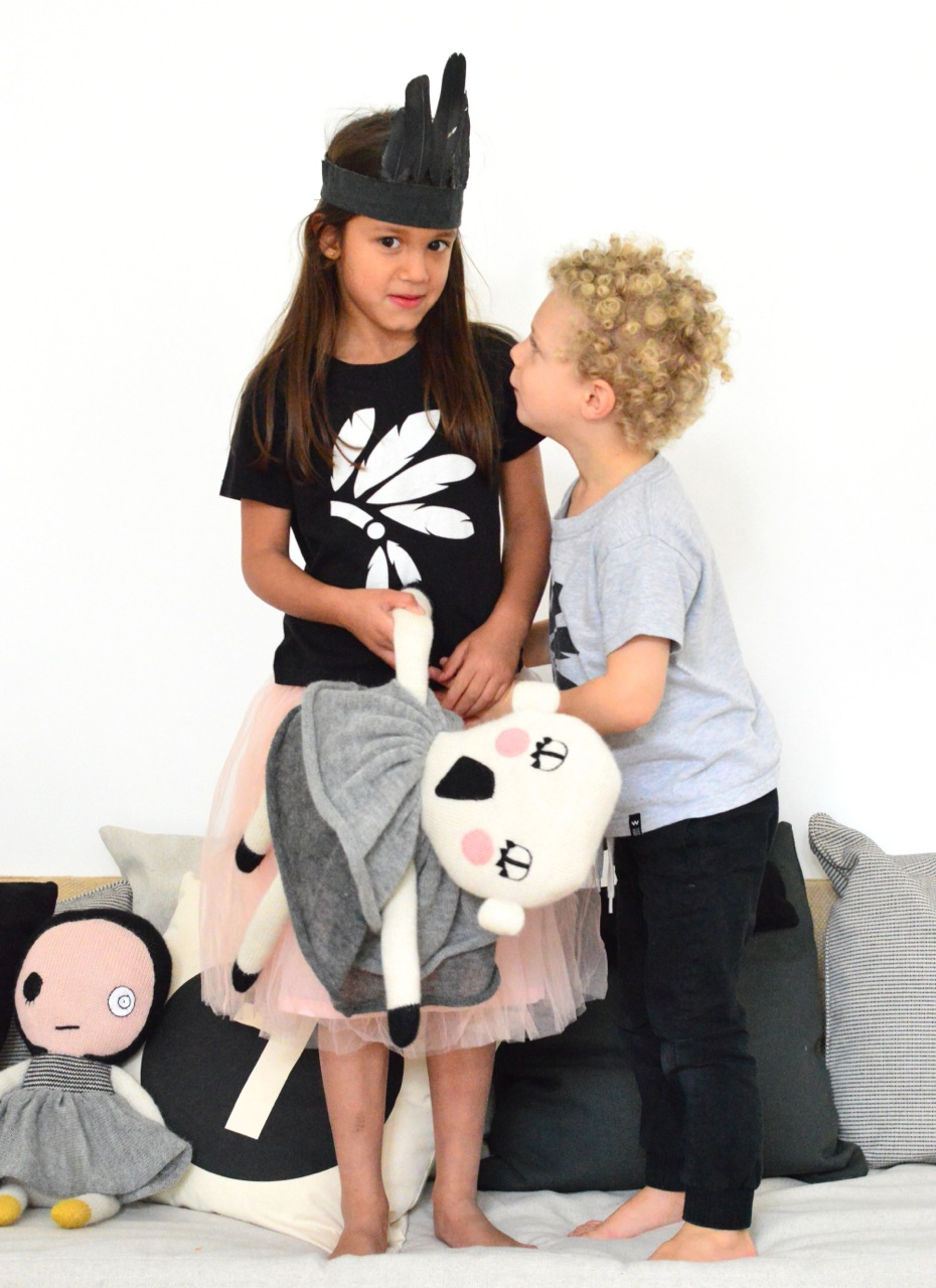 black and white t-shirts for kids