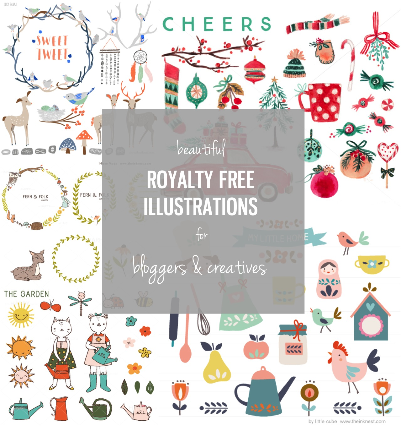 royalty free illustrations for bloggers