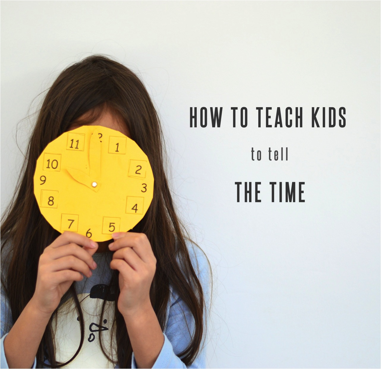 how to teach kids to tell the time