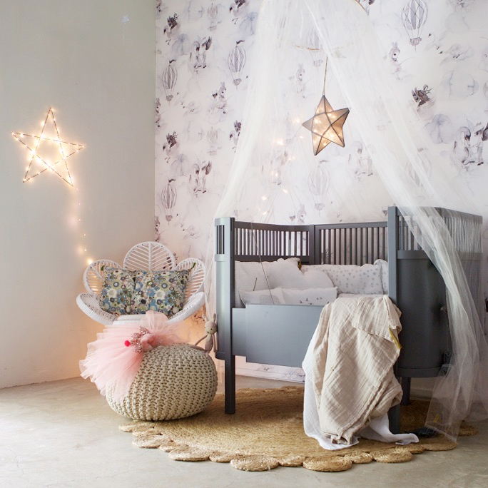 kids bedroom fairy lights