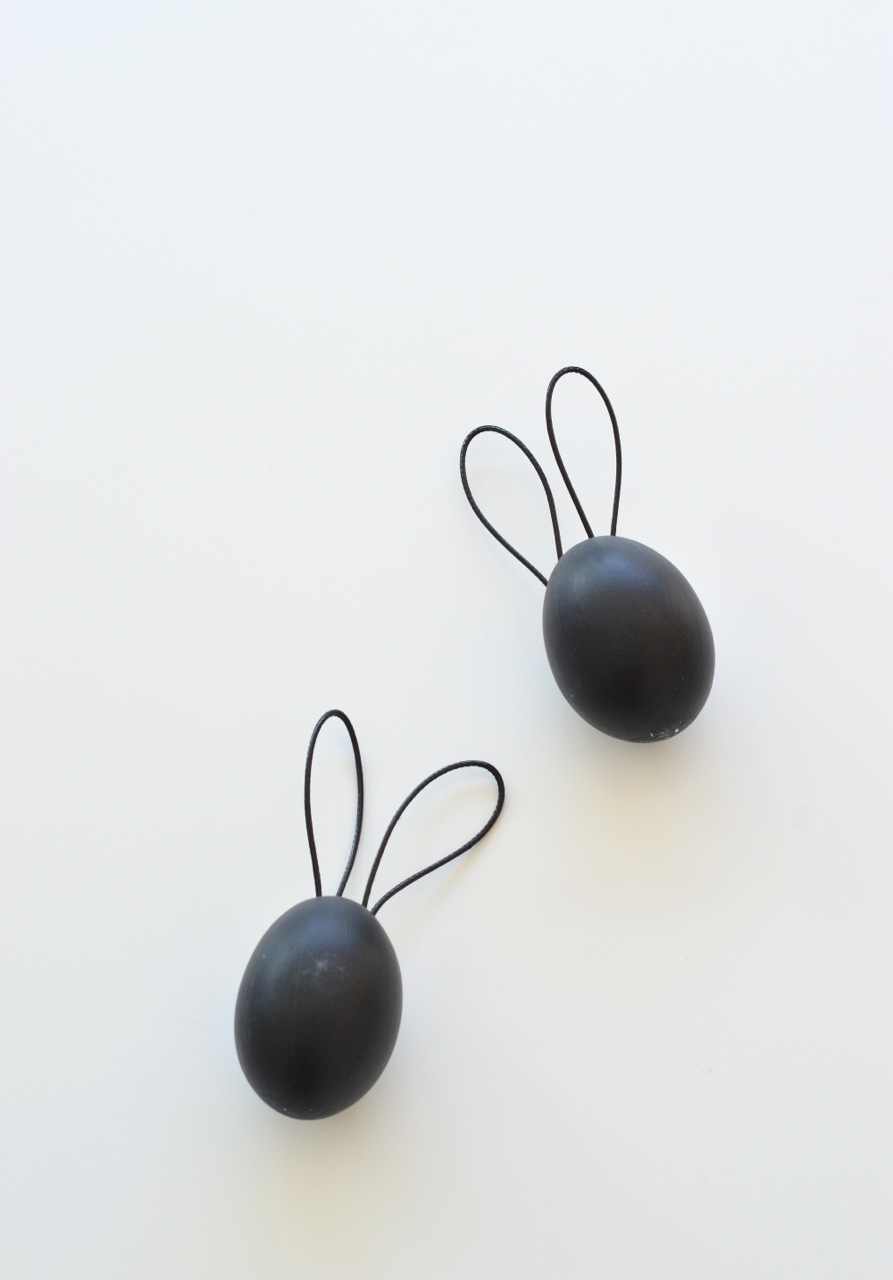 black easter eggs