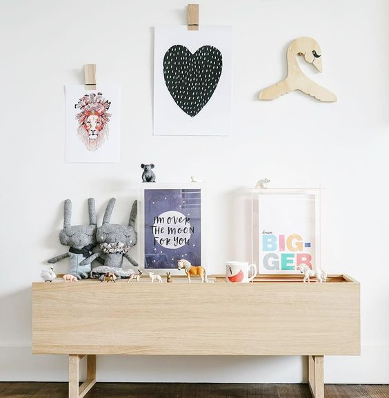 black and white posters kids room