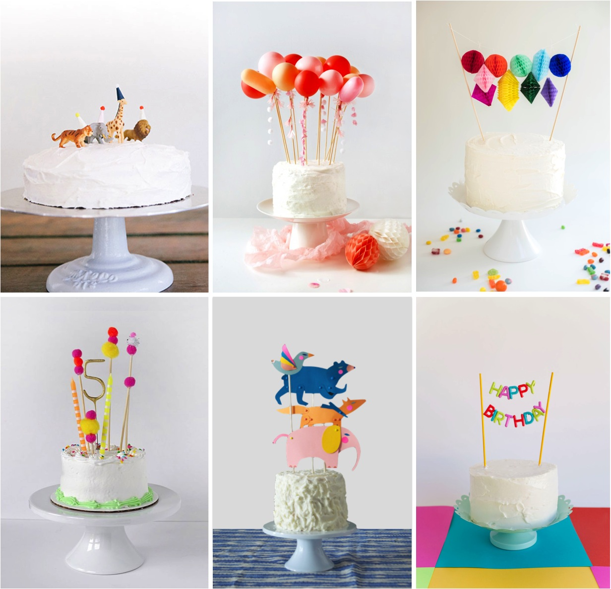 easy DIY Cake toppers