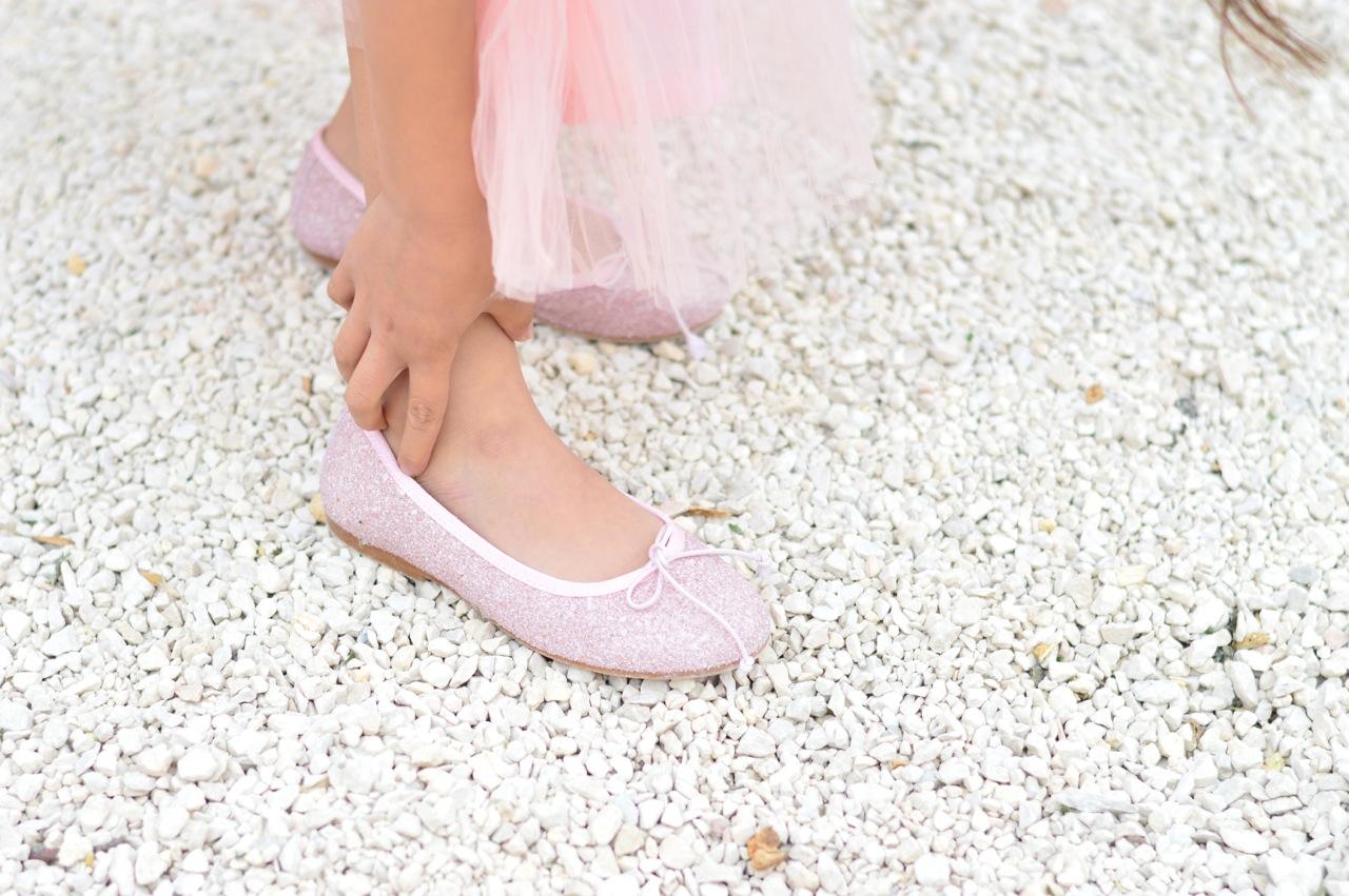 glitter ballet pumps