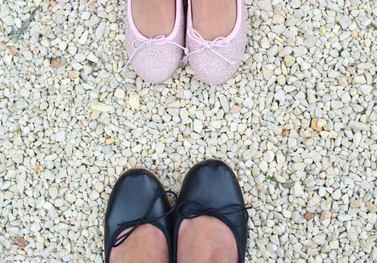 ballet pumps for mother and daughter