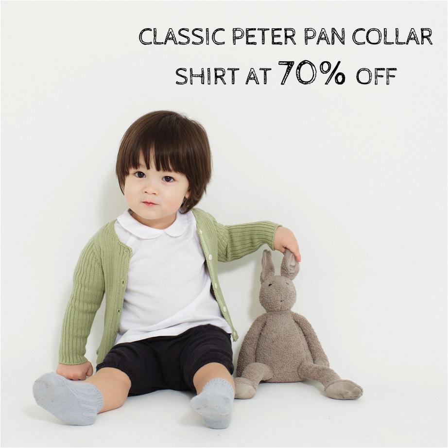 peter pan collar baby shirt